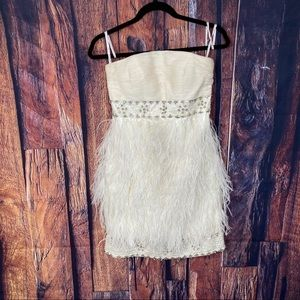 Sue Wong Nocturne Strapless White Cocktail Dress